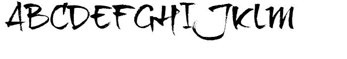 BrushTip Texe Regular Font UPPERCASE