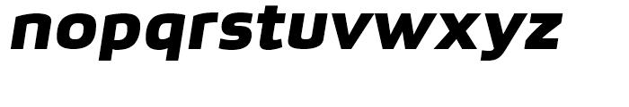 Bruum FY Black Italic Font LOWERCASE