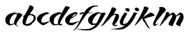 Breezy Regular Font LOWERCASE