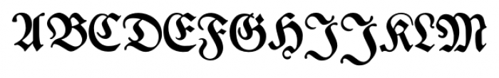 Breitkopf Fraktur Pro Regular Font UPPERCASE
