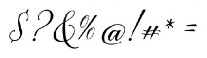 Brenda Script Regular Font OTHER CHARS