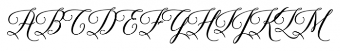 Brenda Script Regular Font UPPERCASE