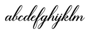 Brenda Script Regular Font LOWERCASE