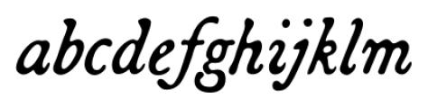 Broadsheet Italic Font LOWERCASE