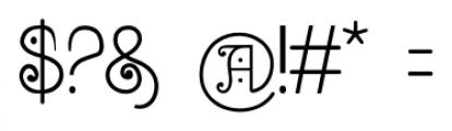 Bruce 1065 Soft Serifs Font OTHER CHARS