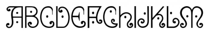 Bruce 1065 Soft Serifs Font UPPERCASE