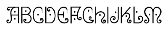 Bruce 1065 Soft Serifs Font LOWERCASE