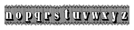 Bruce 1490 Regular Font LOWERCASE