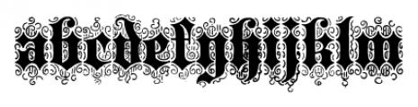 Bruce 532 Blackletter Regular Font LOWERCASE