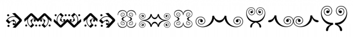 Bruce Ornaments Collection Regular Font UPPERCASE