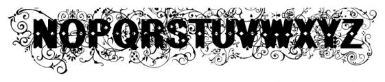 BruceFlourished Regular Font UPPERCASE