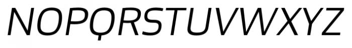 Bruum FY Light Italic Font UPPERCASE