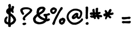 brunoBook Regular Font OTHER CHARS