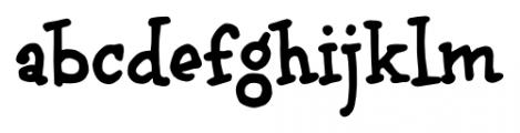 brunoBook Regular Font LOWERCASE