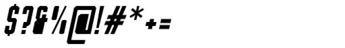 Bradford Three Fill Italic Font OTHER CHARS