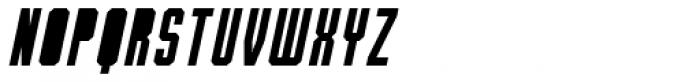 Bradford Three Fill Italic Font UPPERCASE