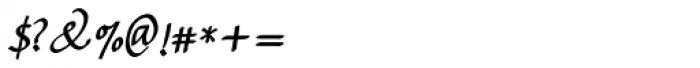 Bradley Chancery Bold Italic Font OTHER CHARS