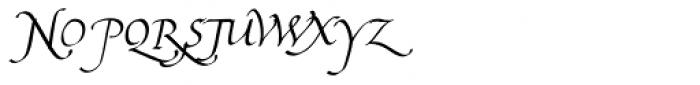 Bradley Chancery Italic Font UPPERCASE