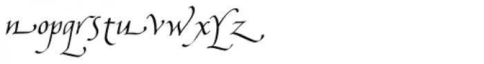 Bradley Chancery Italic Font LOWERCASE