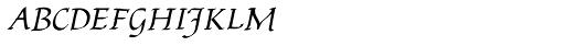 Bradley Chancery Font UPPERCASE