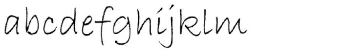 Bradley Hand Std Font LOWERCASE
