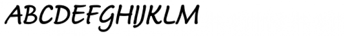 Bradley Texting Pro SemiBold Italic Font UPPERCASE