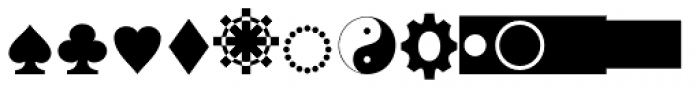 Bradwell Symbols Font UPPERCASE