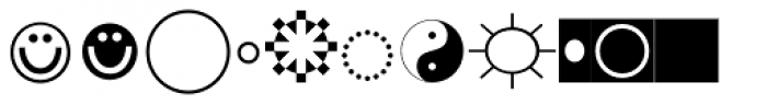 Bradwell Symbols Font LOWERCASE