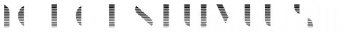 Braga Gradient Font LOWERCASE