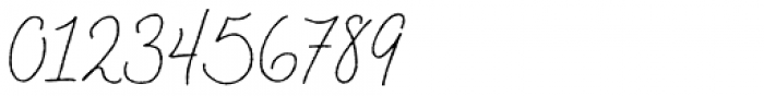 Braisetto Thin Font OTHER CHARS