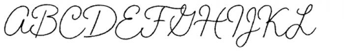 Braisetto Thin Font UPPERCASE