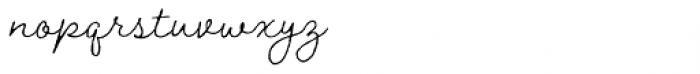 Braisetto Thin Font LOWERCASE