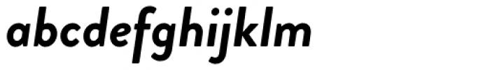 Brandon Grotesque Office Bold Italic Font LOWERCASE