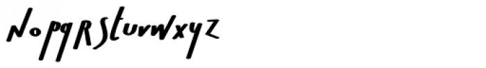 Bratislove Calligraphic Font LOWERCASE