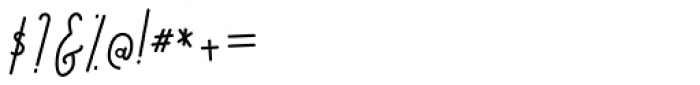 Bratislove Italic Font OTHER CHARS