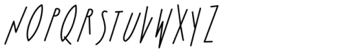 Bratislove Italic Font UPPERCASE