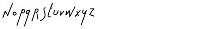 Bratislove Italic Font LOWERCASE