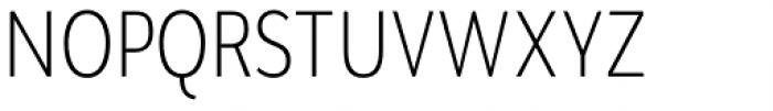 Brava Sans Condensed Extra Light Font UPPERCASE