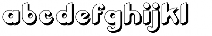 Braxia Embossed Font LOWERCASE
