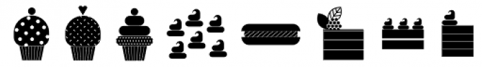 Bread And Confectionery Font LOWERCASE