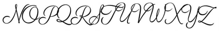 Breakfast Script Light Font UPPERCASE