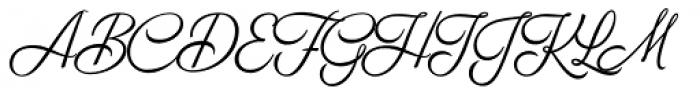 Breakfast Script Regular Font UPPERCASE