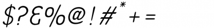 Bredagh Light Italic Font OTHER CHARS