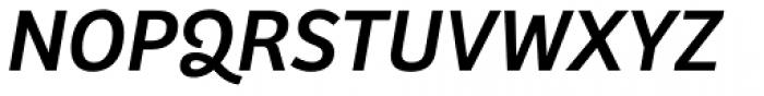 Bree Oblique Font UPPERCASE