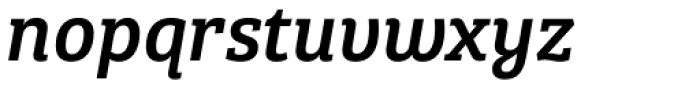 Bree Serif Italic Font LOWERCASE