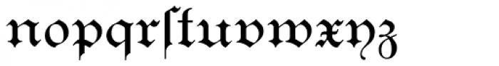 Breite Kanzlei Font LOWERCASE