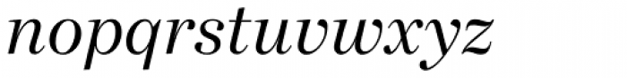 Bressay Display Italic Font LOWERCASE
