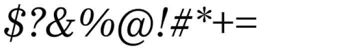 Bressay Italic Font OTHER CHARS