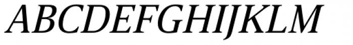 Breve News Book Italic Font UPPERCASE