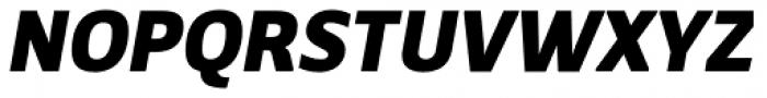 Breve Sans Text Black Italic Font UPPERCASE